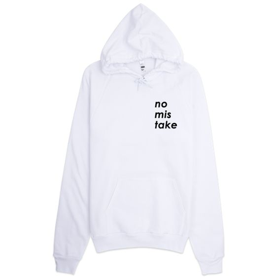 No Mistake Side Logo White Hoodie