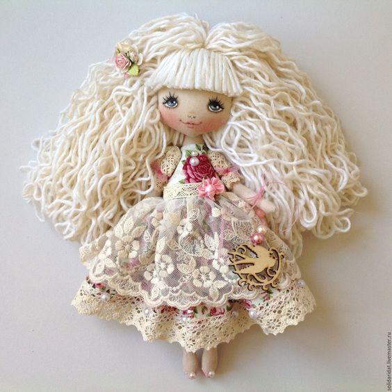 Купить Малышка шебби - кремовый, солнышко, кукла купить, кукла в подарок, кукла ручной работы: