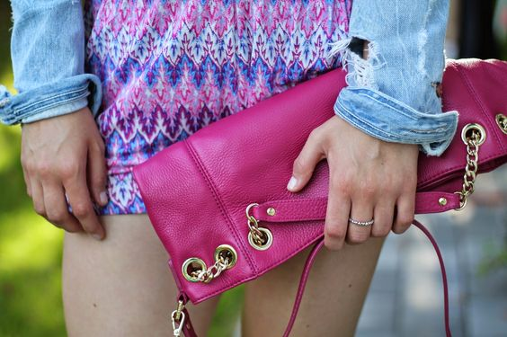 Summer Look / Michael Kors Jetset Bag Pink / Pink Jumpsuit Takko / Espadrillas Espadrij Grey / Ballerina Necklace / Accessoires / Jewelry silver / Blue Jeans Jacket /