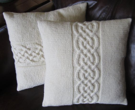 Knitting Pattern For Cushion Covers : CUSTOM ORDER for Katiej Celtic knots, Patterns and Pillow covers