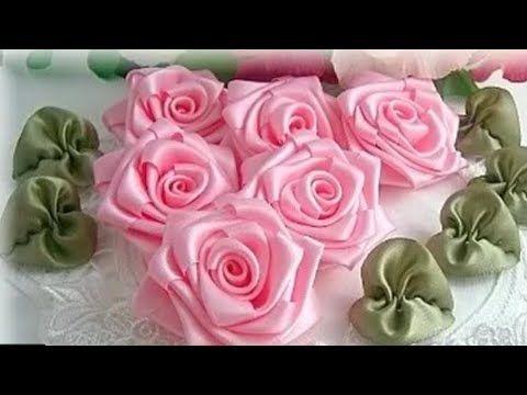 أفكار تجنن لعمل اجمل ورد من الستان بكل بساطة Crochet Flower Squares Fabric Flowers Ribbon Flowers Diy