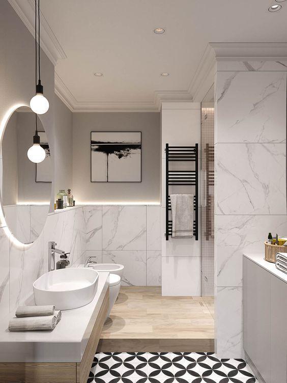 Bathroom Lighting Idea 55 Bathroom Lighting Ideas For Every Style Modern Light Fixtures Bathroom Interior Design Bathroom Interior Modern Bathroom Design