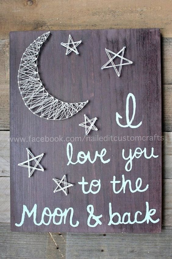 I love you to the moon and back best von NailedItCustomCrafts