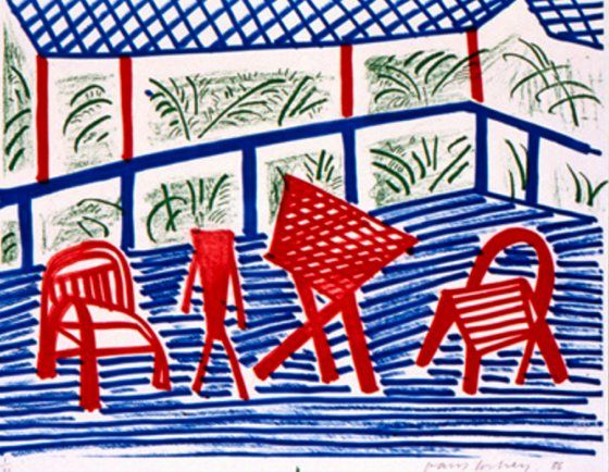 patternprints journal: VIVID COLORS AND GRAPHIC TEXTURES IN IMMENSE PRODUCTION OF DAVID HOCKNEY
