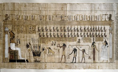 The Weighing Of The Heart Ceremony Papyrus Of A With Images