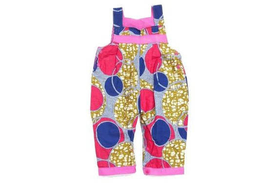 Fair trade baby and toddler overalls, handmade in Malawi.
