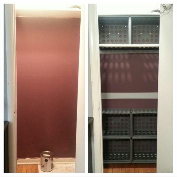 Empty closet turned into plenty of storage space! Before and after!