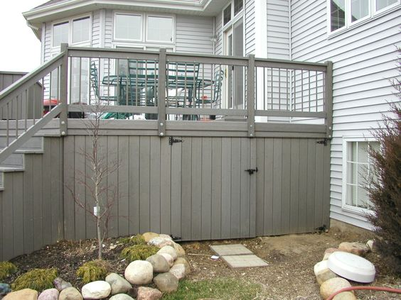skirting deck for looks and storage