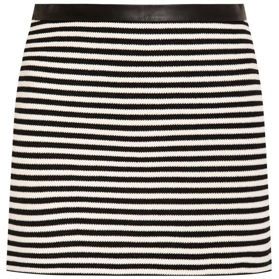 T By Alexander Wang Striped Mini Skirt ($331) ❤ liked on Polyvore ...