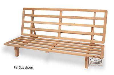 Futon Frame Solid Wood New Bi Fold Sofa Bed