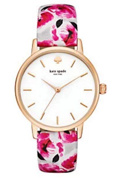 Floral Print Wristwatch