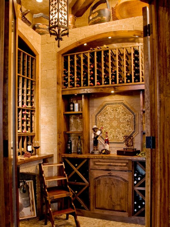 Wine wine cellar and old world on pinterest for Walk in wine cellars