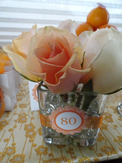 70th birthday centerpieces for tables