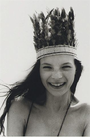 A young Kate Moss on the cover of UK magazine The Face, 1990. Iconic image that defined her career