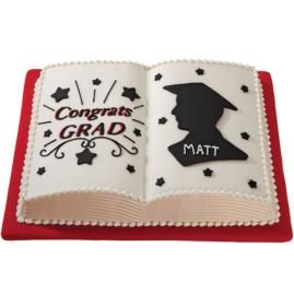 Book Shaped Cake Images : Graduation Book Cake: A Study in Success Graduation ...