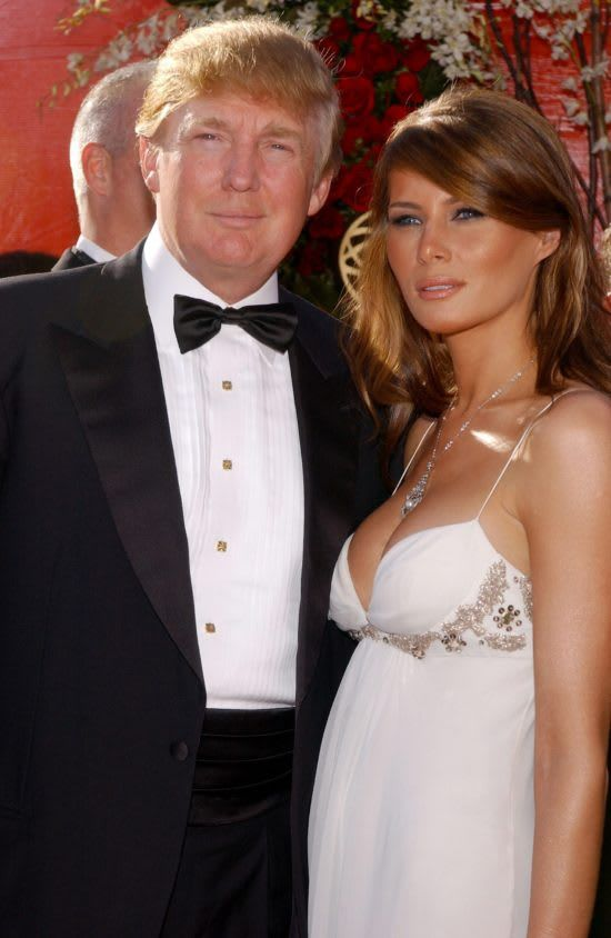 9 19 04 Primetime Emmy Awards He Had Been Nominated For An Emmy For Outstanding Reality Competi Donald And Melania Trump First Lady Melania Trump Melania Trump