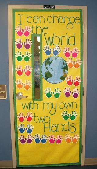 Earth Day Door Display and Bulletin Board Idea
