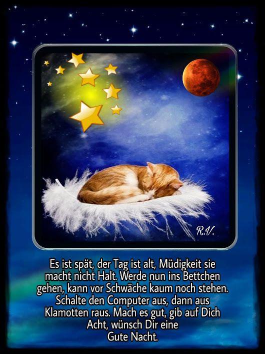 Gute Nacht Gute Nacht Gedichte Gute Nacht Und Guten Abend