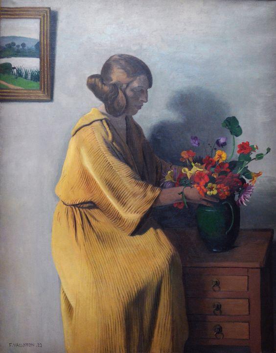 Félix Vallotton (1865-1925)  —  The Bouquet,  1922  (1777×2274)
