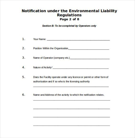 Environment Complaint Letter Free Word Pdf Documents Download