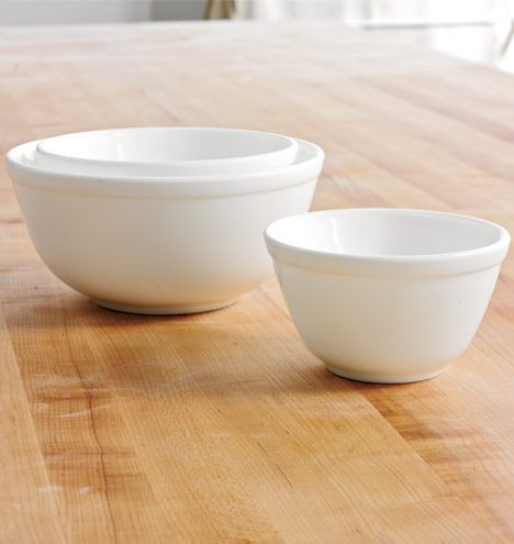 Mosser Pressed Glass Nesting Bowls | Rejuvenation #homeinspiration #decor #home #style #kitchen