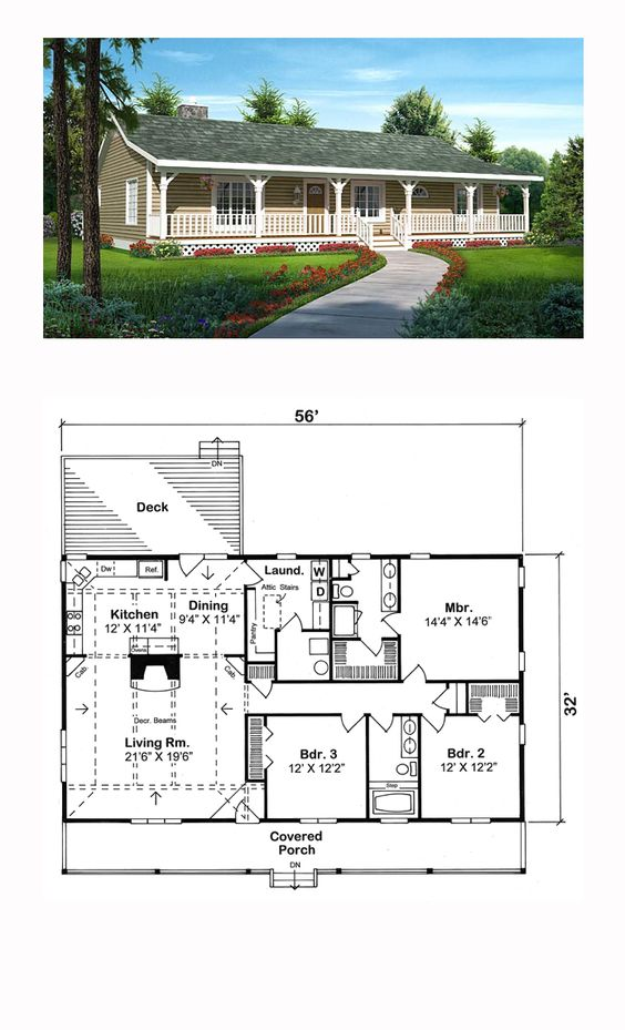 ranch style cool house plan id chp 47591 total living