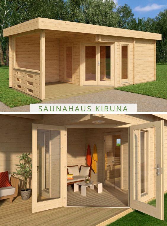 Saunahaus Kiruna 70 Saunahaus Schuppen Moderner Pavillon