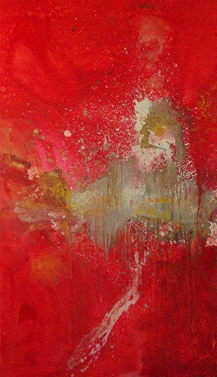 Heldo Thorel y sus pinturas abstractas. En el portfolio Azucar MAG.