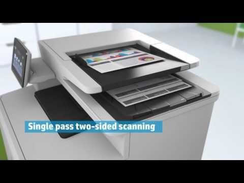 Hp Color Laserjet Pro Mfp M477fdw Multifunction Colour Laser Printer Youtube Printer Multifunction Printer Laser Printer