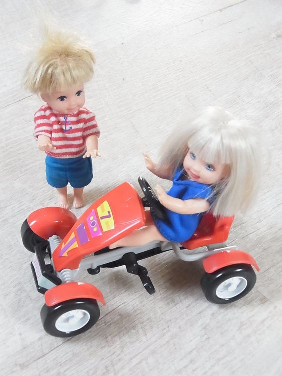 Shelly und Tom mit ihrem Gocart Go-Cart - Kinder für Barbie & Co