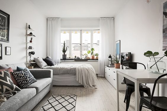 15 Ideas Of Minimalist And Simple One Room Apartment Decoratoo Small Apartment Bedrooms Apartment Decor Inspiration Apartment Room