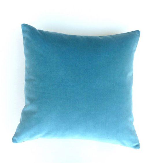 Velvet Luxurious Soft Teal Velvet Pillow / Cushion by OnHighat5