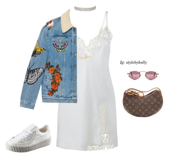 """No.138"" by fvshionmami ❤ liked on Polyvore featuring Louis Vuitton, Puma and Gucci"