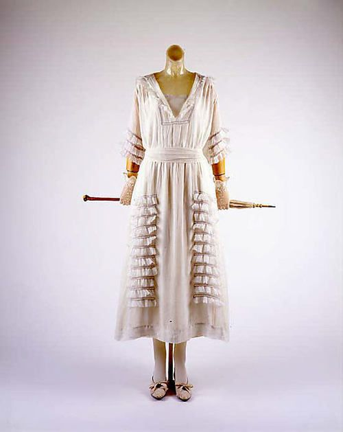 Dress  1914-1918: 1910 S, American Cotton, Cotton Dresses, Vintage Fashion, 1910 Fashion, 1900 1919, Fashion 1910 1920, 1900 S