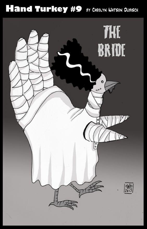 The bride hand turkey