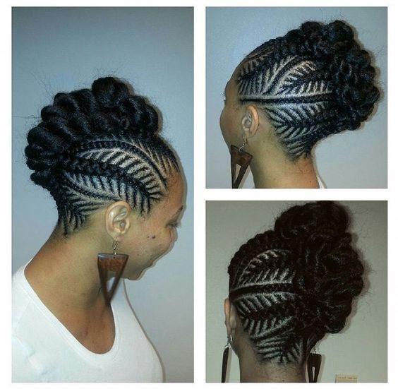 30 Beautiful Fishbone Braid Hairstyles For Black Women Part 22 Natural Hair Styles Braided Mohawk Hairstyles Cornrow Hairstyles