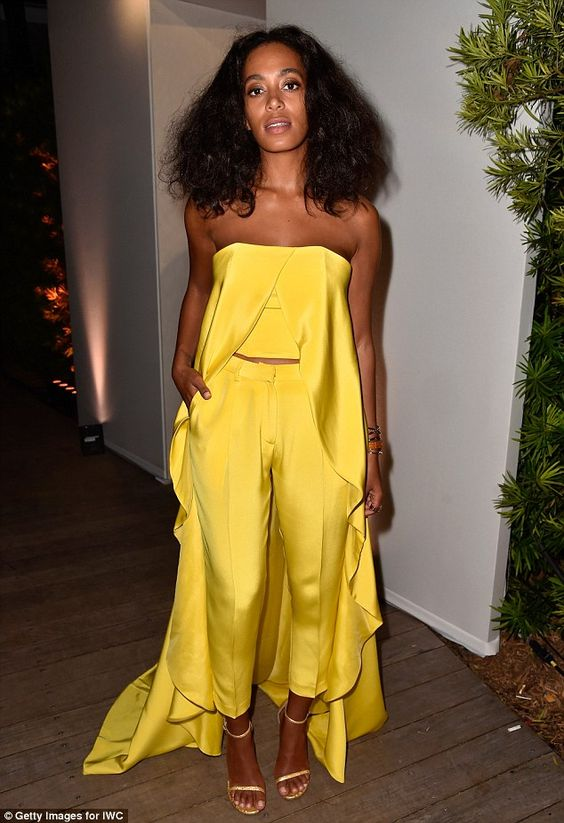 A yellow edding dress jumpsuit