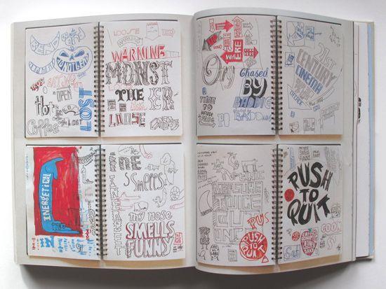 Andy Smith Illustrator Blog: Typographic Sketch Books