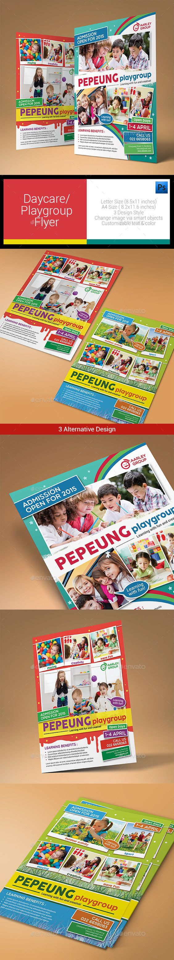daycare playgroup flyer flyer template daycares and flyers daycare playgroup flyer photoshop psd fun magazine ad available here rarr