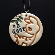 Necklace by Dottery Pottery. So cute!