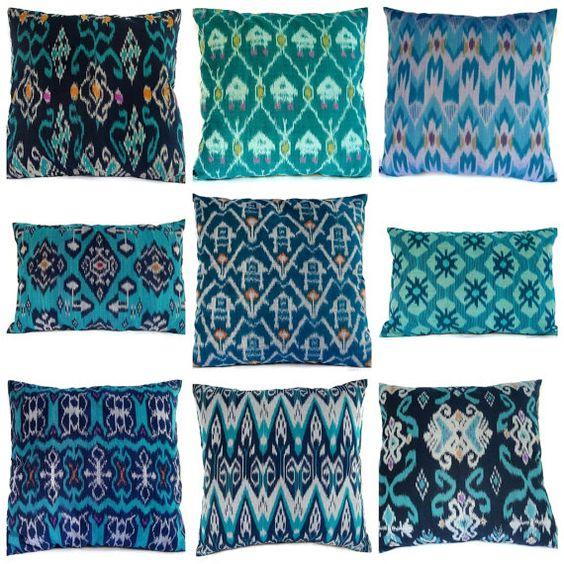 #pillows #ikat pillows