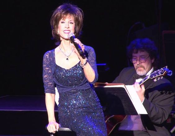 Deana Martin with a guitar player from the Red Bank Jazz Orchestra. Photo by Rafael A Jimenez