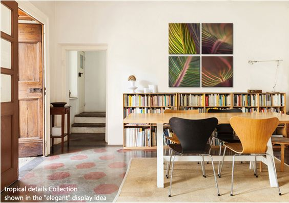 COLLECTIONS  4pc canvas art - easy and fun to hang, any way you want! #affordable #art #wallart #decorate #decor #homedecor HANGCOLLECTIONS.COM