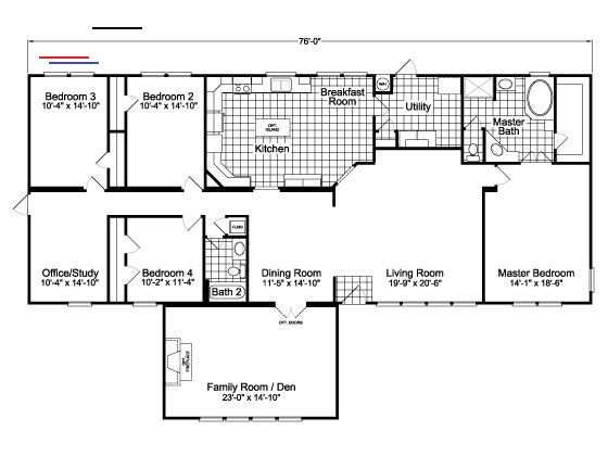 Floor Plan The Ponderosa Flex Vr47764a Apartmentfloorplans En 2020 Plan Maison Maison