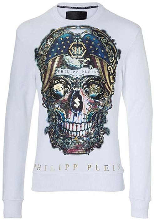 Philipp Plein Sweat shirt Manches Longues Homme Blanc