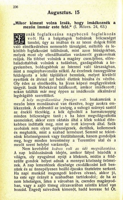 08.15.Spurgeon: Harmatgyöngyök...