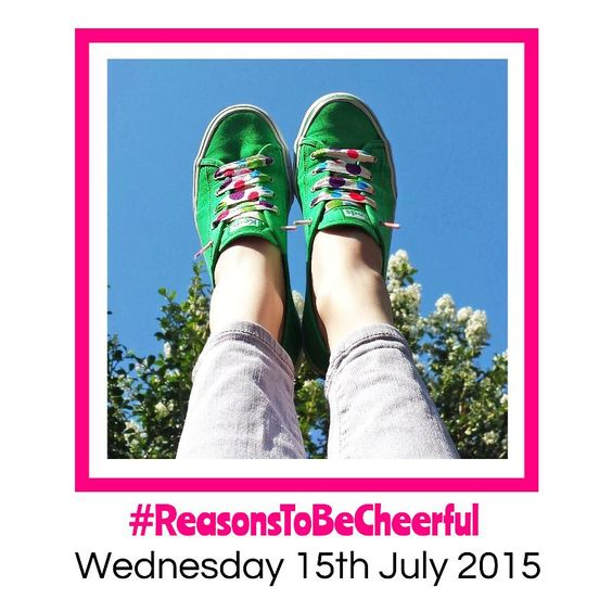 #ReasonsToBeCheerful Blue Sky, Green Shoes, Spotty Laces...