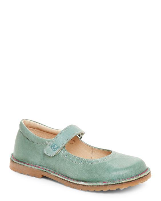 Naturino (Toddler Girls) Mint Leather Mary Jane Shoes