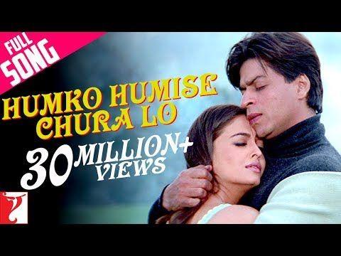 5 Humko Humise Chura Lo Full Song Mohabbatein Shah Rukh Khan Aishwarya Rai Lata Uday Youtube Songs 90s Bollywood Songs Film Song