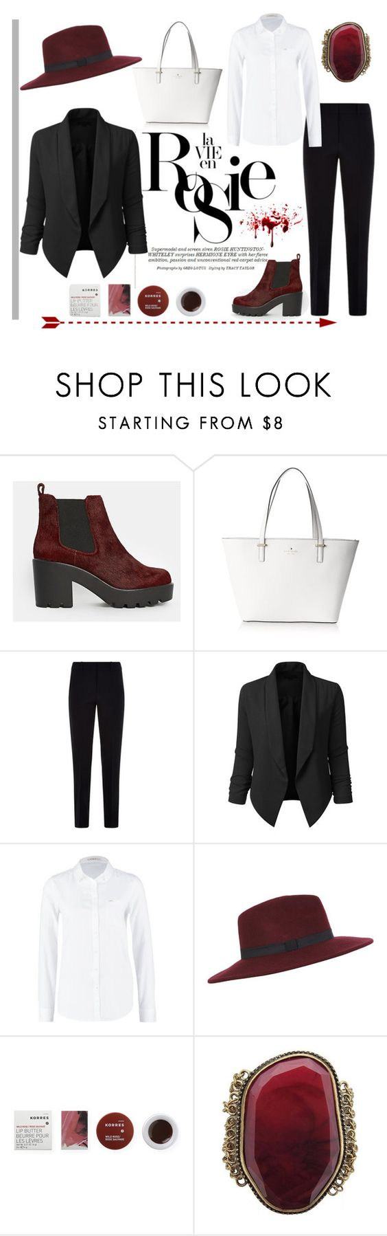 """""""Untitled #360"""" by bloploop ❤ liked on Polyvore featuring Whiteley, ASOS, Kate Spade, Armani Collezioni, Lee, Miss Selfridge, Korres, women's clothing, women and female"""